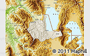 Shaded Relief Map of Pogradec, physical outside