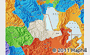 Shaded Relief Map of Pogradec, political outside