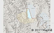 Shaded Relief Map of Pogradec, semi-desaturated