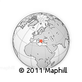 Outline Map of Pogradec