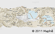 Classic Style Panoramic Map of Pogradec