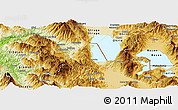 Physical Panoramic Map of Pogradec