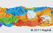 Political Panoramic Map of Pogradec
