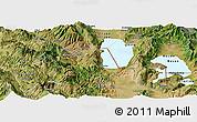 Satellite Panoramic Map of Pogradec