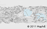Silver Style Panoramic Map of Pogradec