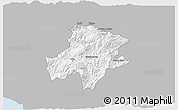 Gray 3D Map of Pukë, single color outside