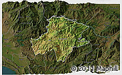 Satellite 3D Map of Pukë, darken
