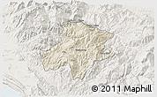 Shaded Relief 3D Map of Pukë, lighten
