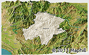 Shaded Relief 3D Map of Pukë, satellite outside