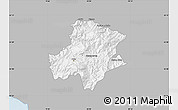 Gray Map of Pukë, single color outside
