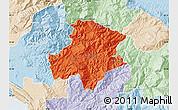 Political Map of Pukë, lighten