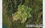 Satellite Map of Pukë, darken