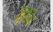 Satellite Map of Pukë, desaturated