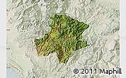 Satellite Map of Pukë, lighten