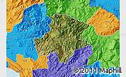 Satellite Map of Pukë, political outside