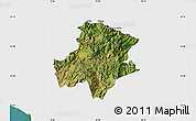 Satellite Map of Pukë, single color outside