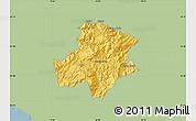 Savanna Style Map of Pukë, single color outside