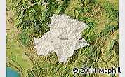 Shaded Relief Map of Pukë, satellite outside