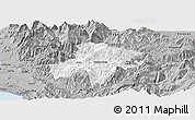 Gray Panoramic Map of Pukë