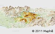 Physical Panoramic Map of Pukë, lighten