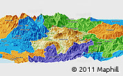 Physical Panoramic Map of Pukë, political outside