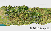 Satellite Panoramic Map of Pukë