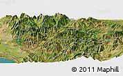Satellite Panoramic Map of Pukë