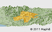 Savanna Style Panoramic Map of Pukë