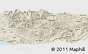 Shaded Relief Panoramic Map of Pukë