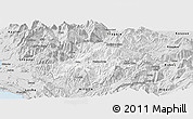Silver Style Panoramic Map of Pukë