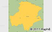 Savanna Style Simple Map of Pukë, single color outside
