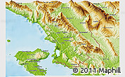 Physical 3D Map of Sarandë