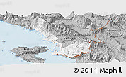 Gray Panoramic Map of Sarandë