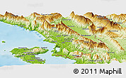 Physical Panoramic Map of Sarandë