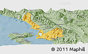 Savanna Style Panoramic Map of Sarandë