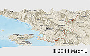 Shaded Relief Panoramic Map of Sarandë