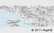Silver Style Panoramic Map of Sarandë