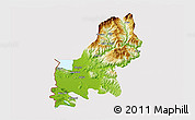 Physical 3D Map of Shkodër, cropped outside