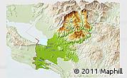 Physical 3D Map of Shkodër, lighten
