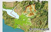 Physical 3D Map of Shkodër, satellite outside