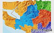 Political 3D Map of Shkodër
