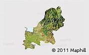 Satellite 3D Map of Shkodër, cropped outside