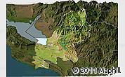 Satellite 3D Map of Shkodër, darken