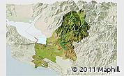 Satellite 3D Map of Shkodër, lighten
