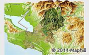 Satellite 3D Map of Shkodër, physical outside