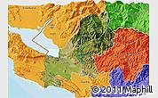 Satellite 3D Map of Shkodër, political outside