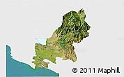 Satellite 3D Map of Shkodër, single color outside