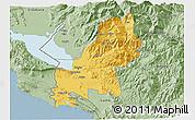 Savanna Style 3D Map of Shkodër