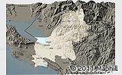 Shaded Relief 3D Map of Shkodër, darken