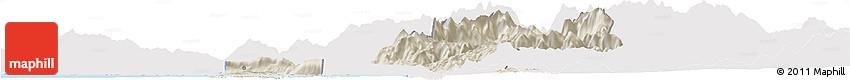 Shaded Relief Horizon Map of Shkodër, single color outside